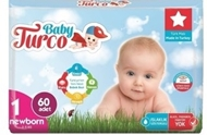 Picture of Baby Turco Bebek Bezi Jumbo 1 Beden Yeni Doğan 60 Adet