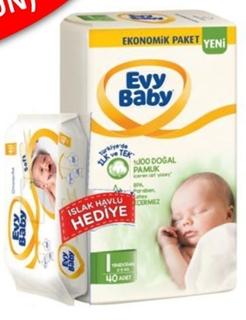Evy Baby Yendoğan+Islak Havlu 1 Numara 54 Lı ürün resmi
