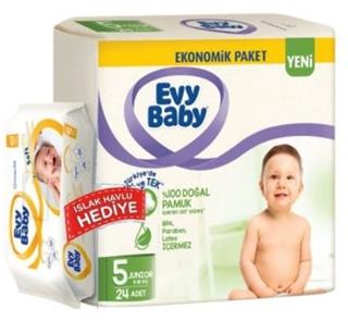 Evy Baby Junior+Islak Havlu 5 Numara 24 Lü ürün resmi