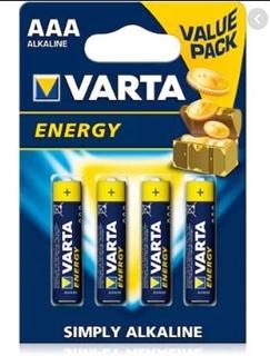 Varta Energy İnce Pil Alk 4'Lü ürün resmi