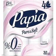 Resim Papia Tuvalet Kağıdı 3 Katlı 32 Li