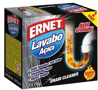 Ernet Süper Lavabo Açıcı Aktif Granüllü 2x70 Gr ürün resmi