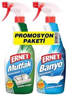 Ernet Süper Likit Promosyon Mutfak + Banyo Temizleyici Spreyli (1+1) 750 Ml ürün resmi