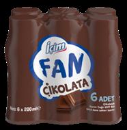 Resim Ülker İçim Fan Çikolatalı Süt 6x200 Ml