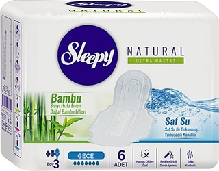 Sleepy Ped Natural Slim Soft İnce Gece 6 Lı ürün resmi