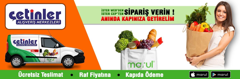 Konya çetinler avm online market siparişi