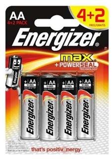 Energizer Max Alk Aa 4+2 ürün resmi