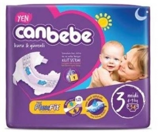 Canbebe Çocuk Bezi 3 Numara Midi 4-9 Kg 34 Adet ürün resmi