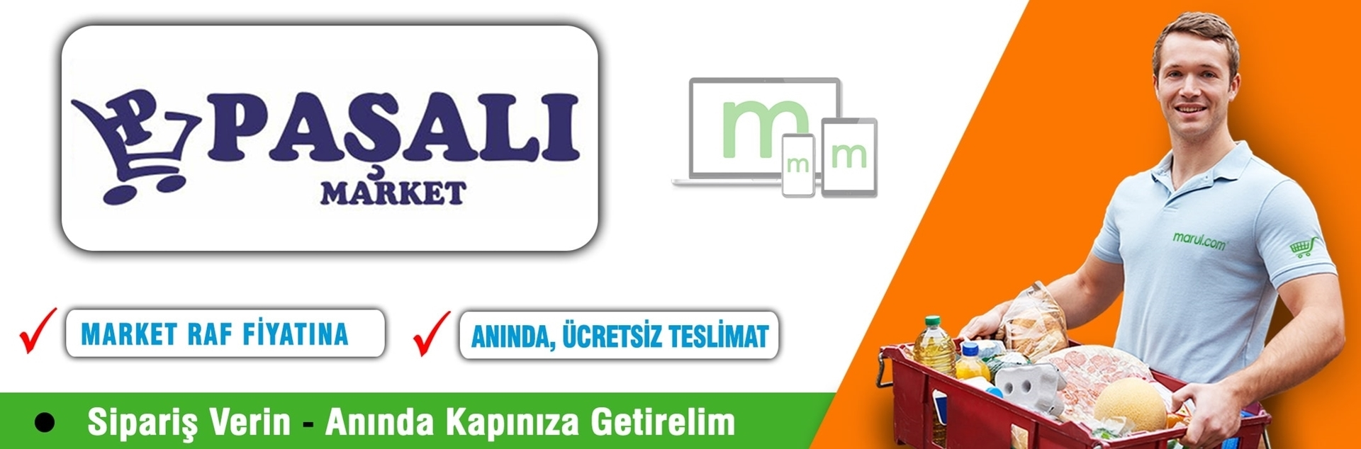 paşalı market online market siparişi