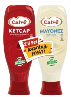 Calvé Ketçap 600 Gr + Calvé Yağı Azaltılmış Mayonez 540 Gr Set 2 Li ürün resmi