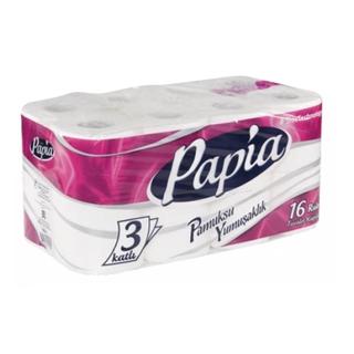 Papia Tuvalet Kağıdı 3 Katlı 16 Rulo ürün resmi
