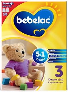 Bebelac Nutricia 3 Devam Sütü 9. Aydan İtibaren 900 gr ürün resmi