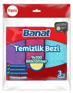 Picture of Banat Temizlik Bezi Mikrofiber %30 3 Lü