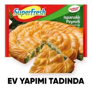 Superfresh D.Tepsi Böreği Ispanaklı 800 Gr ürün resmi