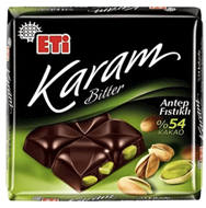 Resim Eti Çikolata Karam Antep Fıstıklı Bitter%54 70 Gr