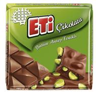 Resim Eti Çikolata Antep Fıstıklı Kare 70 Gr