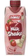 Resim Dimes Milkshake Çilek Vanilya 310 Ml