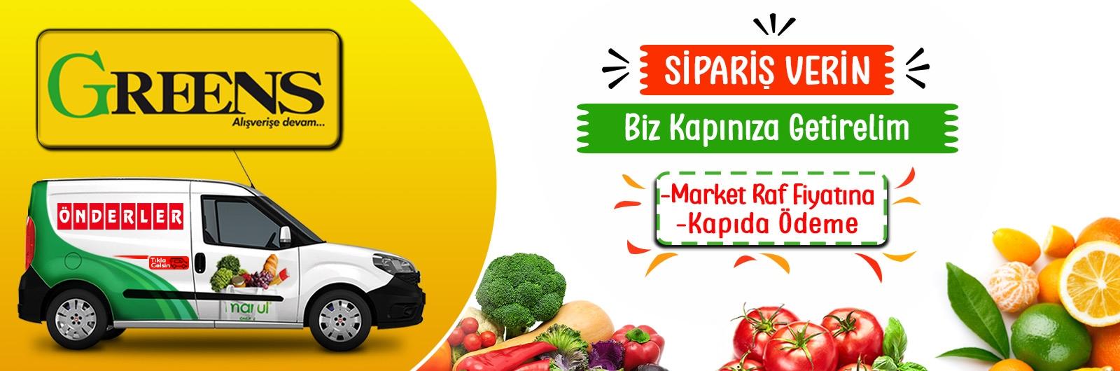 Greens market online sipariş