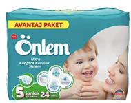Resim Önlem Avantaj Paket Bebek Bezi 5 Beden Junior 24 Lü