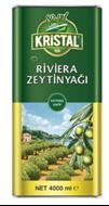 Resim Kristal Riviera Zeytinyağı Teneke Kutu 4 Lt