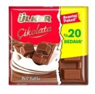 Resim Ülker Çikolata Kare Sütlü %20 72 Gr
