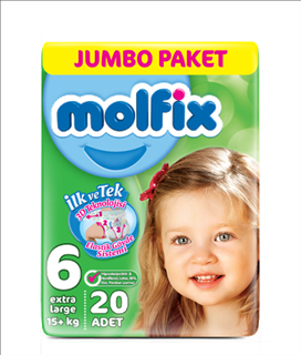 Molfix 3d E.Large Jumbo 20 Adet ürün resmi