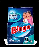 Picture of Bingo Matik Sık Yıkanan Çamaşırlar İçin Toz Deterjan 9 kg