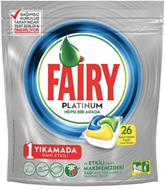 Resim Fairy Platinum Bulaşık Makinesi Deterjanı Kapsülü Limon Kokulu 26 Yıkama