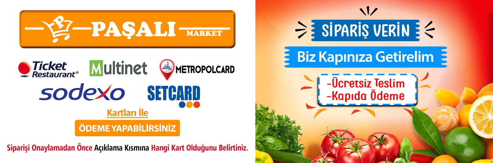 Paşalı Süpermarket Online Sipariş